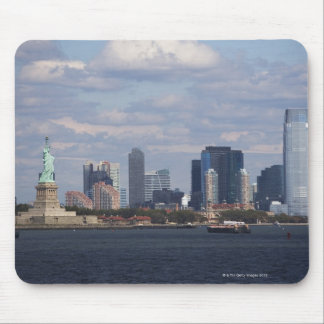 Skyline with Statue of Liberty Mouse Pad