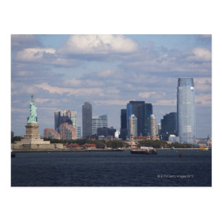 Skyline with Statue of Liberty Postcard