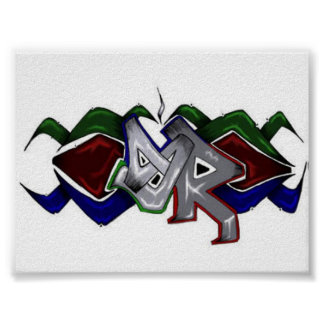 SkyRoot Grafitti Logo Poster