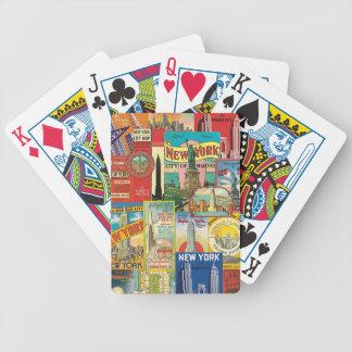 Skyscraper of New York - Letters of poker Poker Deck
