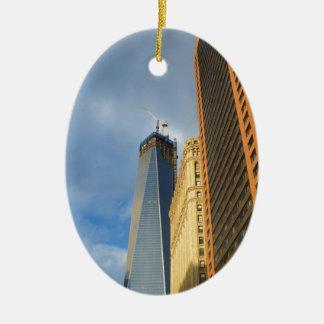 Skyscraper Reflections of New York Christmas Ornament