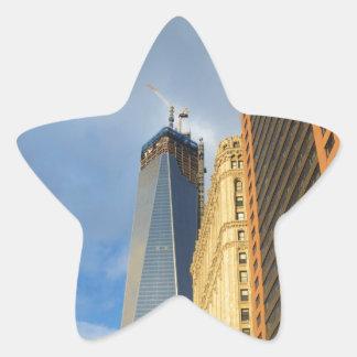 Skyscraper Reflections of New York Star Sticker
