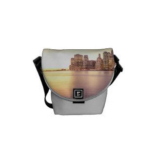Skyscraper Skyline - New York City Sunset Courier Bag