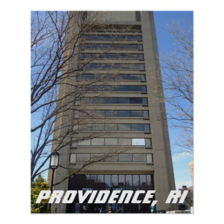 Skyscraper, Thayer Street, Providence, RI Poster