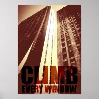 Skyscraper Urban Big City Building Poster