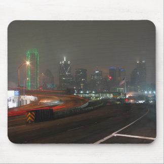 Skyscraper With Neon In Downtown Dallas In Texas Mousepad