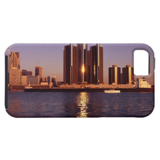 Skyscrapers by the water in Detroit 2 Tough iPhone 5 Case