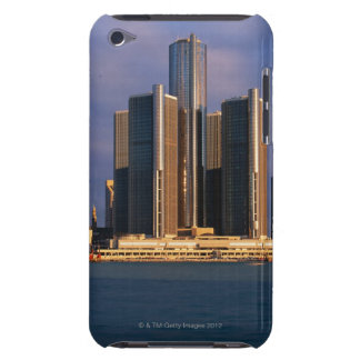 Skyscrapers by the water in Detroit 3 Barely There iPod Covers