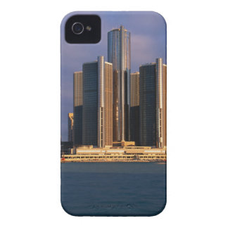 Skyscrapers by the water in Detroit 3 iPhone 4 Case-Mate Case