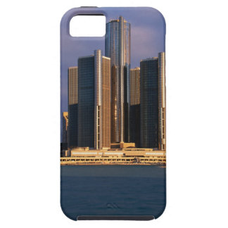 Skyscrapers by the water in Detroit 3 Tough iPhone 5 Case