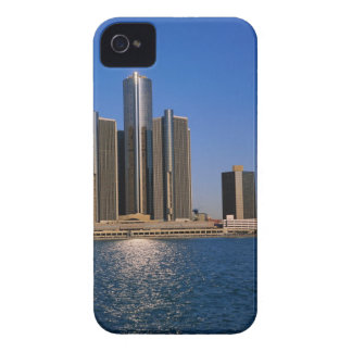 Skyscrapers by the water in Detroit iPhone 4 Cover