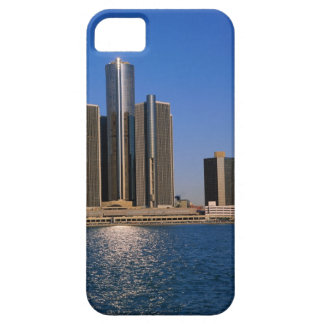Skyscrapers by the water in Detroit iPhone 5 Covers