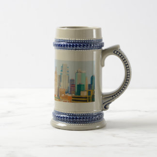 Skyscrapers High Rise Downtown Kansas City Skyline Beer Steins