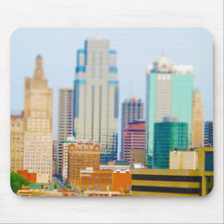 Skyscrapers High Rise Downtown Kansas City Skyline Mouse Pad