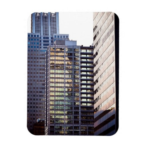 Skyscrapers in Chicago's financial district Rectangular Magnet