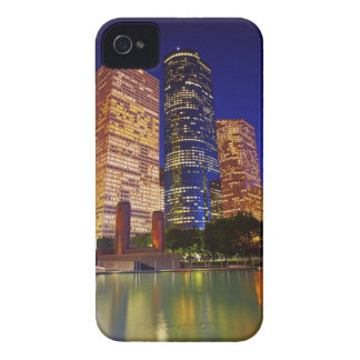 Skyscrapers in downtown Houston reflected in iPhone 4 Cases