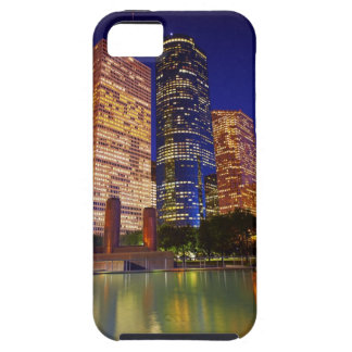 Skyscrapers in downtown Houston reflected in iPhone 5 Case