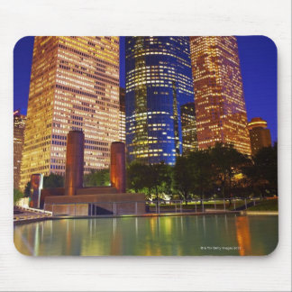 Skyscrapers in downtown Houston reflected in Mouse Mat