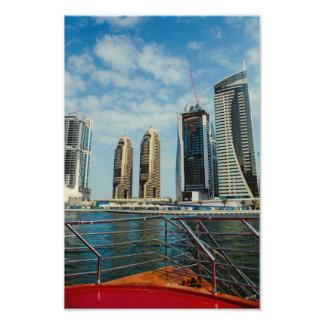 Skyscrapers in Dubai Marina Photo Art