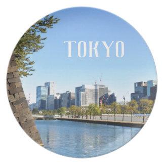Skyscrapers in Tokyo, Japan Plate