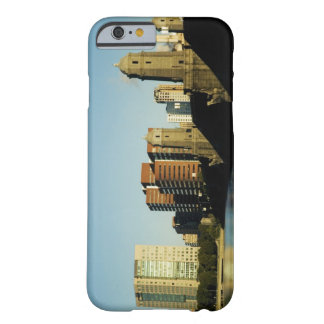 Skyscrapers near a bridge across a river, barely there iPhone 6 case