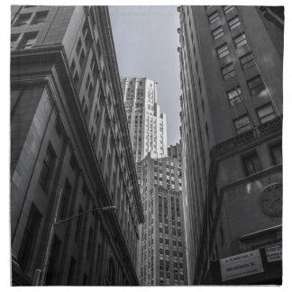 Skyscrapers New York City Centre Metropole Napkin
