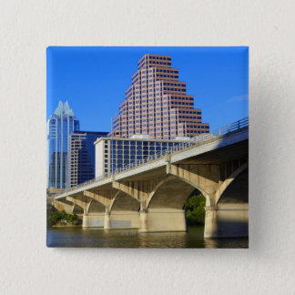 Skyscrapers of Downtown Austin and Colorado 15 Cm Square Badge