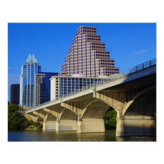 Skyscrapers of Downtown Austin and Colorado Poster