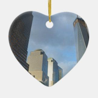 Skyscrapers of New York Ceramic Heart Decoration