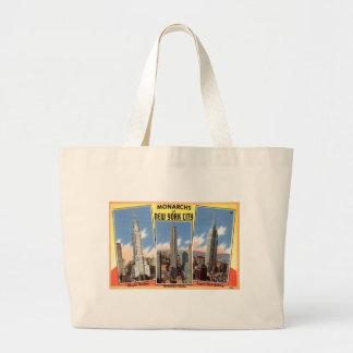 Skyscrapers of New York City Vintage Tote Bag