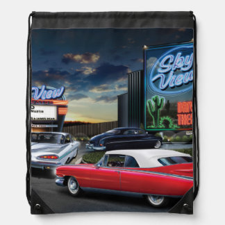 Skyview Drive In 2 Drawstring Bag