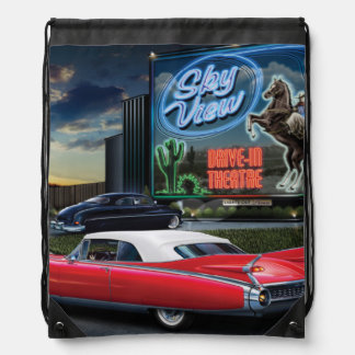 Skyview Drive In Drawstring Bag