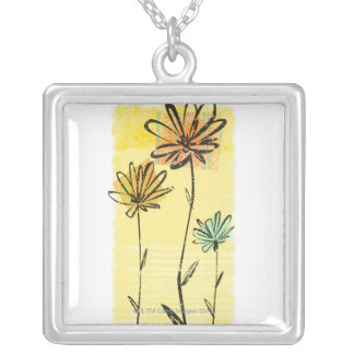 Skyward Flowers Silver Plated Necklace