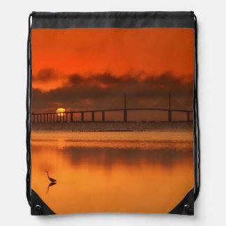 Skyway Bridge Drawstring Bag