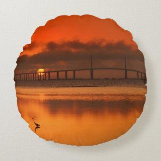 Skyway Bridge Round Cushion