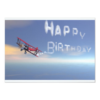 Skywriter Happy Birthday invitation. Card