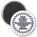 SL Pathologist...Because I Said So 6 Cm Round Magnet