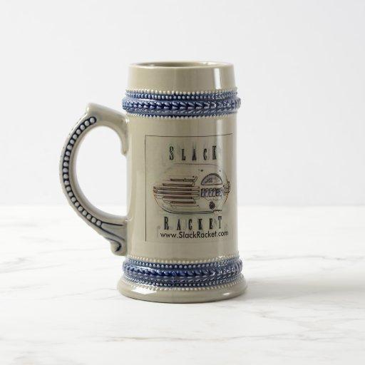 Slack Racket Beer Stein. Mug