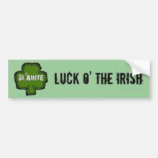 Sláinte Irish Health and Cheers Bumper Sticker Car Bumper Sticker