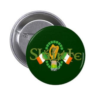 Slainte Irish Toast Health St Patricks Day gifts Pinback Button