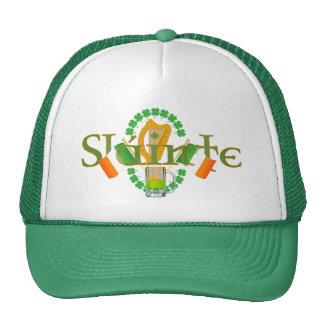 Slainte Irish Toast Health St Patricks Day gifts Mesh Hats