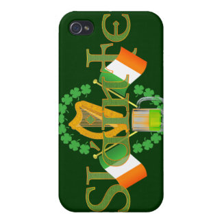 "Slainte Irish Toast ""Health"" St Patricks Day gifts Case For iPhone 4"