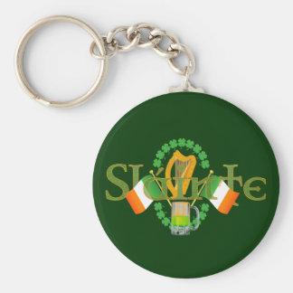 "Slainte Irish Toast ""Health"" St Patricks Day gifts Key Chain"