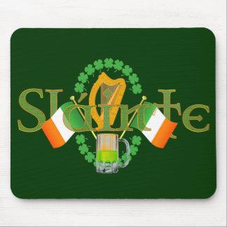 "Slainte Irish Toast ""Health"" St Patricks Day gifts Mouse Pad"