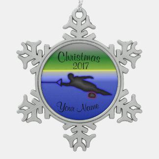 Slalom Water Ski Christmas Ornament