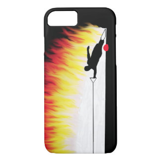 Slalom Water Skier With Flames iPhone 7 Case