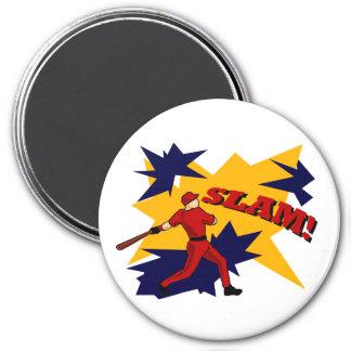 SLAM BASEBALL MAGNET
