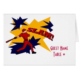SLAM! BASEBALL PLACECARD CARD