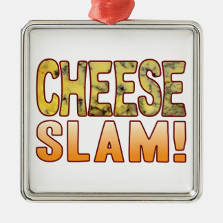 Slam Blue Cheese Silver-Colored Square Decoration
