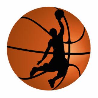 Slam Dunk Basketball Player Standing Photo Sculpture